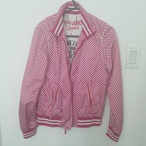 Pepe's Jean Jacket Pink & white